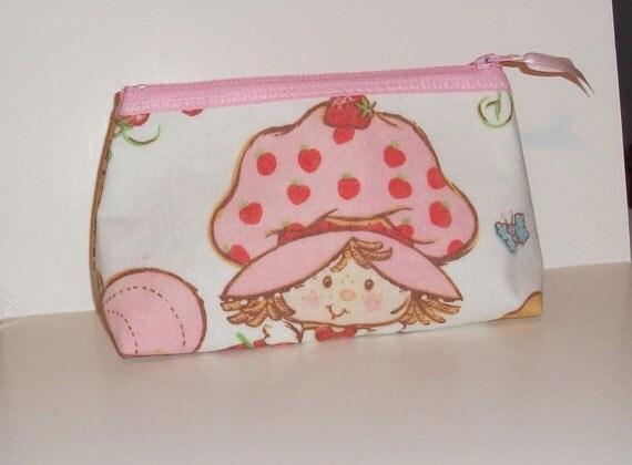 Strawberry Shortcake   Makeup- Bag--Handmade- American Greetings