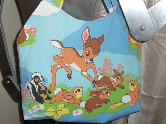 Bambi Tote / Purse 00ak-- Handmade  Vintage Disney   Thumper