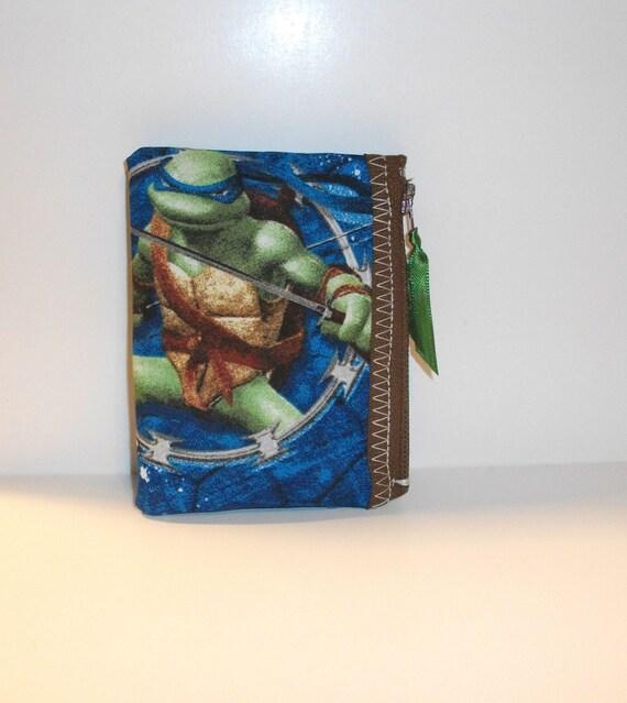 Teenage Mutant Ninja Turtles  Fabric Change Pouch- Handmade  Nintendo- OOAK  TMNT