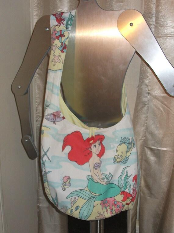 Little Mermaid  Boho Shoulder  Bag     OOak   Hip Bag / Sling Bag  Disney  Ariel