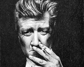 David Lynch - original drawing framed and ready to hang