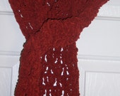 Orange Spice Lacy Suede Scarf