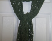 Sage Green Lacy Suede Scarf