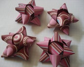 Mauve Madness - Set of 4 Handmade Recycled Paper Gift Bows