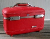Train Case Red American Tourister Train Case Suitcase
