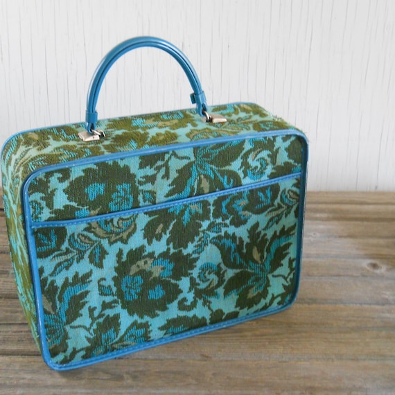 Soft Side Suitcase Blue Tapestry