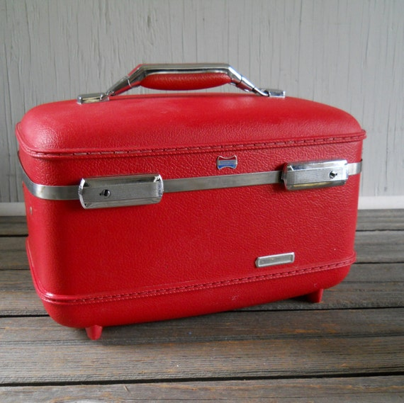 Train Case Red American Tourister Train Case Suitcase