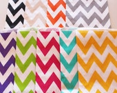 Chevron Stripe Favor Bags  - 24 YOU PICK your COLORS - Wedding - Birthday - Packaging - Made In Usa
