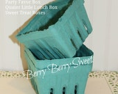 Berry Baskets, 24 Party Favor Boxes, Little Lunch Box, Strawberry, Cookies, Sandwich, Treats