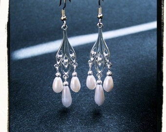 Someday Tudor Renaissance Medieval Pearl Earrings