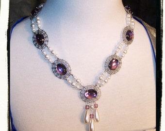 Sugar Plum Beauty Tudor Renaissance Necklace Medieval Costume Jewelry Game of Thrones