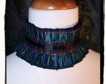 Mardi Gras Reversible Victorian Vampire Lace Posture Neck Ruff
