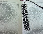 Tatting - Tatted Bookmark with Pearl