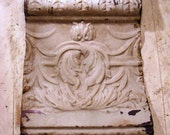 Antique architectural salvage tin cornice tile
