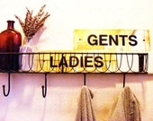 Ladies and Gents Vintage Brass Signs