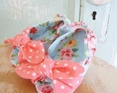 Shoe Sewing Pattern. Open Toe Knotted Baby Shoes Size newborn to 2T