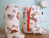 PDF Pattern - Zipper Boots with Optional Leather Sole