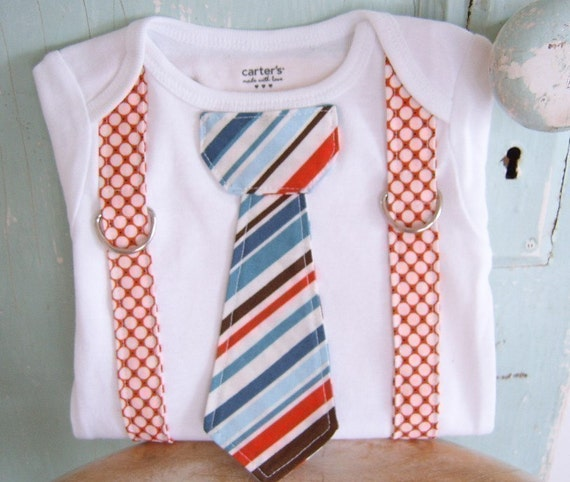 DIY pdf Sewing Pattern - Suspender Tie Onesie