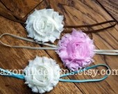 Shabby Chic Flower Headband M2M Jaxon Jill Designs