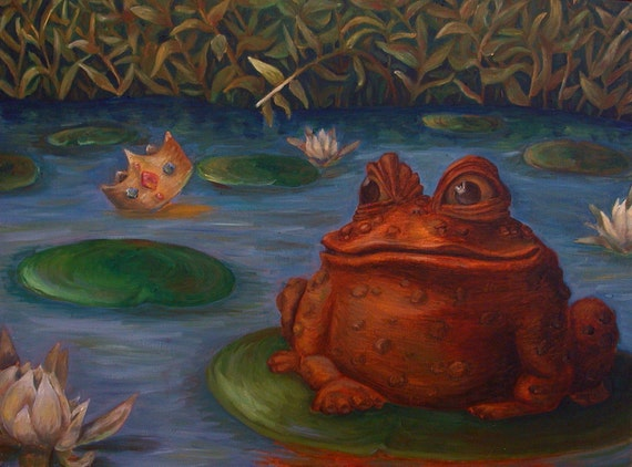 Items similar to Frog Oil Painting (Free Shipping) on Etsy