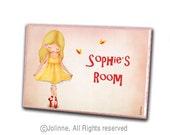 Kids personalized door sign,Children Personalized Sign,art for girls room,personalized gift for girls,girls room wall art,custom name plaque