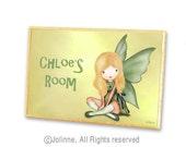 Personalized fairy sign for kids room, angel door plaque, room sign, kids, art, nursery art, custom name door sign, baby nursery door plaque