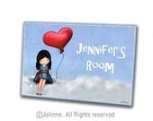 Personalized door sign, children room sign, girls room decor, kids room door sign, custom name art, nursery design, baby nursery name sign