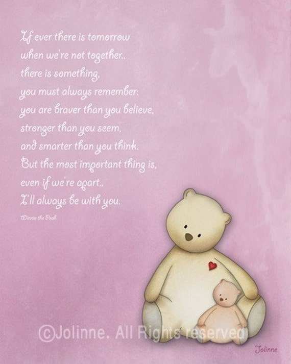 baby shower giftnursery wall art winnie the pooh quote baby, Baby shower invitation