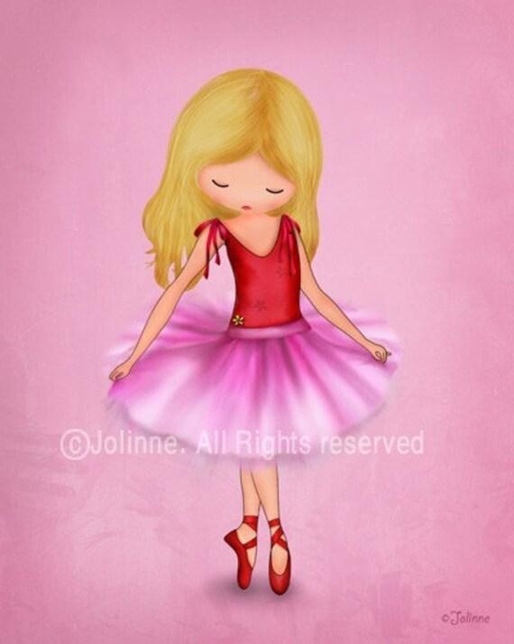 Art for girls room,Children art print, Ballerina dancer art print, illustration, nursery decor,etsy ,childrens art, kids artwork, pink