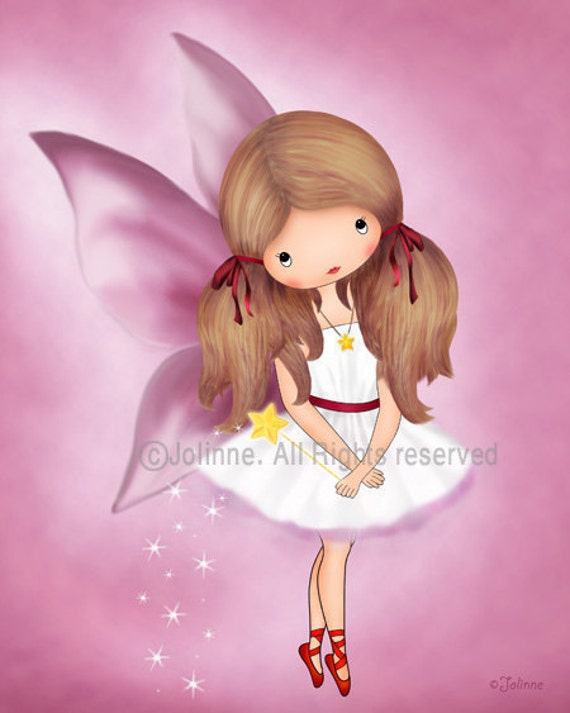 Girls room decor, kids wall art, children's decor, art for children, fairy wall art, angel, baby girl wall art
