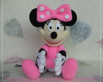 Minnie Mouse 10 inches - PDF amigurumi crochet pattern
