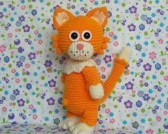 MITTENS the cat 12  inches - PDF crochet pattern