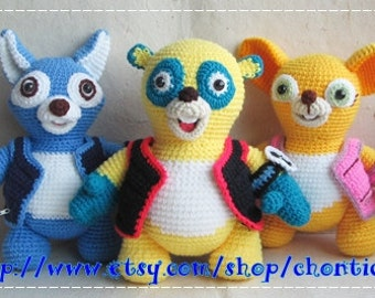 Special agent OS and Friends - PDF amigurumi crochet pattern