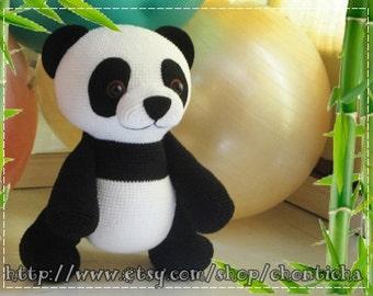 Giant Panda 22 inches - PDF amigurumi crochet pattern