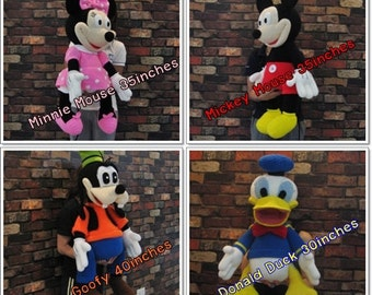 Mickey Mouse and the Gang (GIANT) - PDF amigurumi crochet pattern