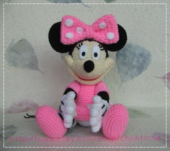 Patron Amigurumi Baby Minnie : Minnie Mouse 10 inches PDF amigurumi crochet pattern