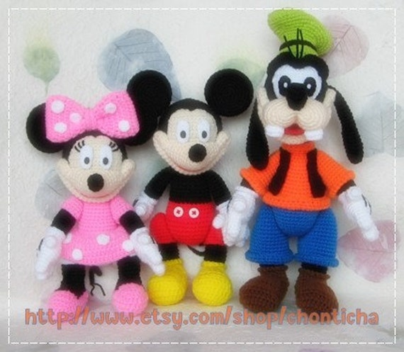 Mickey Mouse Amigurumi Mercadolibre : Mickey Gang PDF crochet pattern