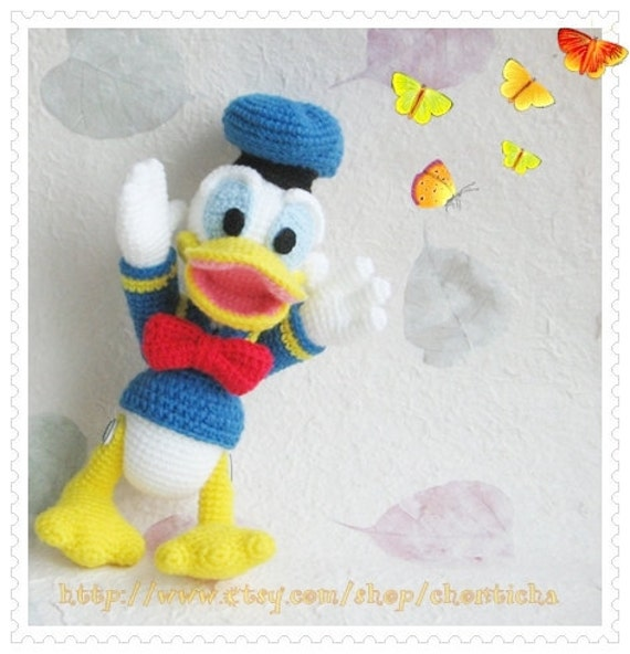 Donald Duck Amigurumi Pattern : Donald Duck 8.5 inches PDF amigurumi crochet pattern by ...