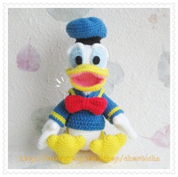 Donald Duck Amigurumi Pattern : Donald Duck 8.5 inches - PDF amigurumi crochet pattern ...