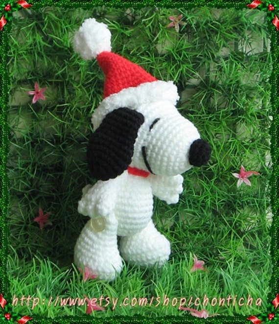 Snoopy 5 inches - PDF amigurumi crochet pattern