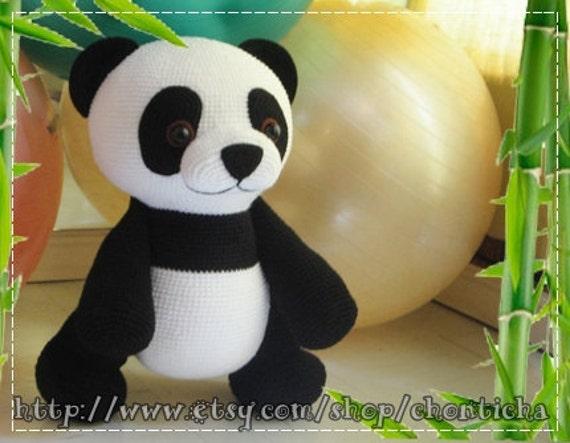 Amigurumi De Panda : Giant Panda 22 inches PDF amigurumi crochet pattern