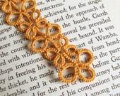 Gold Lace Bookmark in Tatting - Eva