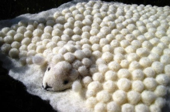 Faux LambSkin Wooly Mini Rug
