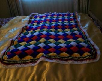 Boy's Building Block Baby Blanket