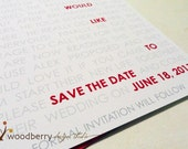 Wedding SAVE THE DATE card - How You Met Story Cards by Woodberry Design Studio on Etsy