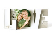 Wedding Guest Book Alternative - LOVE Word Book 4 signature page - Custom Design by Woodberry Design Studio on Etsy