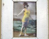 Beach Bathing Beauties Print Recycled Wood Frame BB14