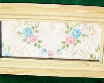 New York Architectural SALVAGE Shabby Wood Picture Frame RECLAIMED CHIC OLD S5772
