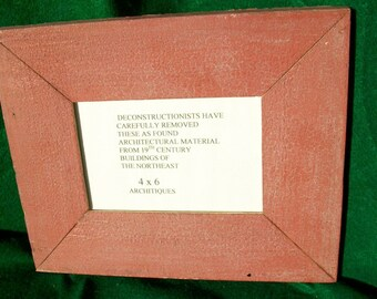 Old New York Architectural Salvaged Wood Shabby Picture Frame Reclaimed Chic S5787