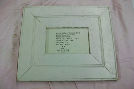 Old Salvaged Wood Shabby Picture Frame 4 X 6 Reclaimed Chic
